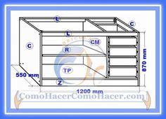 Muebles Cocina Plano Mueble Bajo | Web del Bricolaje Diseño Diy