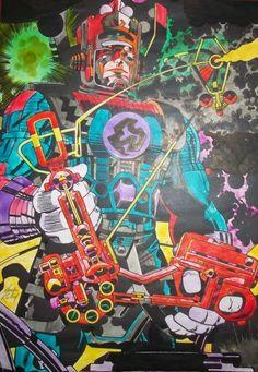 Hoje, #JackKirby completaria 97 anos! O grande mestre dos quadrinhos americanos está de parabéns, como esse Galactus de colorização mucho loca comprova.  De parabéns também estão Kevin Eastman e Peter Laird, que trinta anos atrás decidiram homenageá-lo com TARTARUGAS NINJA: http://www.newfrontiersnerd.com.br/2014/08/as-tartarugas-ninja-de-kevin-eastman-e.html