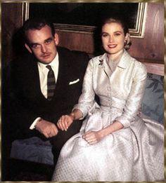 Fürst Rainier III. von Monaco und Grace Kelly