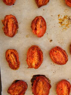 Roasted Tomatoes - turn the most tasteless tomatoes into sweet and flavorful yumminess! Perfect for off season tomatoes!   @tasteLUVnourish   #tomatoes
