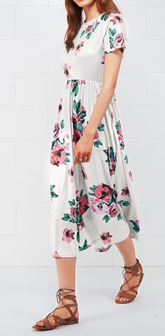 Treat Yourself to Something Special. Check new dress look here. It is detailed with floral printing and cute pocket design. Chic & Unique, show off now with it. Shop Now!
