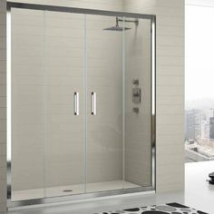 Shower with 2 parts for oppening.