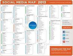 mappa social media 2013