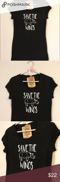 Save the Winos T-Shirt Save the winos tee.   Enjoy this comfy tee that displays your daily routine !  This listing includes 1 save the winos tee.  Shirt Fabric: 60% cotton-40% polyester.  NOTE: These tees fit true to size - for an extra slouchy look we recommend a size up!   I ship right away!   Please ask If you have any questions. I sell cheaper  on Etsy.   Thanks so much for visiting my shop and please don't hesitate to contact me if you have any questions. Handmade with love ! Oh Baby…
