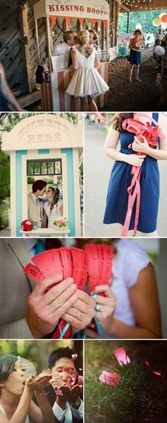 A kissing booth at your wedding!  Everyone will be talking about that forever!