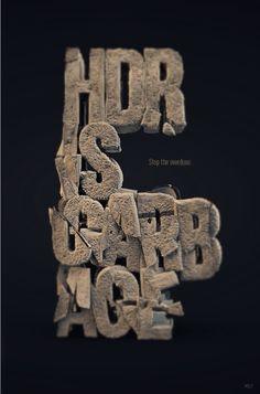 Typography by Batoul et Mehdi , via Behance