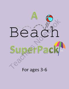 Summer Beach Preschool Pack- 48 PAGES! product from Your-Teachers-Aide on TeachersNotebook.com