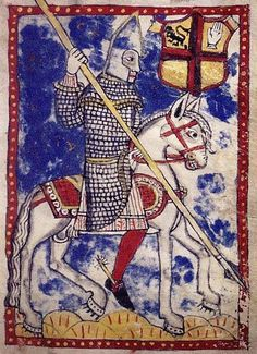 """""""Irish horseman, from the Book of the de Burgos. This late century document contains a genealogical history of the Burke family (after MS Historia et Genealogia Familiae de Burgo)"""" as published by Irish Archaeology. Irish Costumes, Irish Clothing, Irish Warrior, Irish People, Medieval Art, Dark Ages, Ancient Art, 16th Century, Middle Ages"""