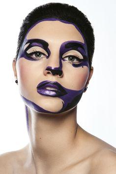 Pop Art Makeup, Sfx Makeup, Costume Makeup, Makeup Inspo, Makeup Inspiration, Beauty Makeup, Makeup Ideas, Kreative Portraits, Extreme Makeup