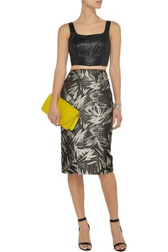 Love this outfit! Jason Wu Jacquard Knit Pencil Skirt