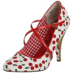 """Yes I would so wear these shoes.  Especially if I had some big ole cherry """"earbobs"""" to match!"""