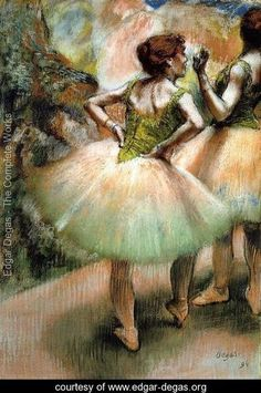 Dancers, Pink and Green I - Edgar Degas It's almost like the other dancer is saying 'talk to the hand'.