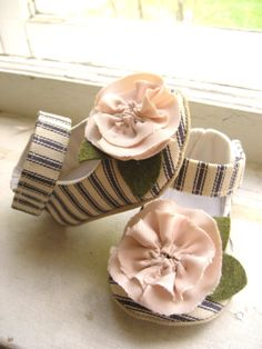 One of my favorite Good Little Things items.  Baby Girl Shoes- Cozette Design - Made to Order. $50.00, via Etsy.