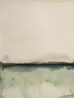 "Koen Lybaert; Watercolor 2013 Painting ""Herføl"""