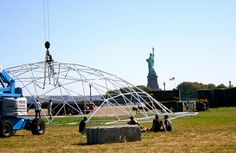 Building a 90' dome frame in New York, NY
