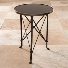 Directoire Iron Table from Zinc Door $620