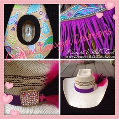 https://www.facebook.com/pages/Custom-Cowgirl-Creations/1507120859561846 Check out our custom hats & stirrups  Thank you