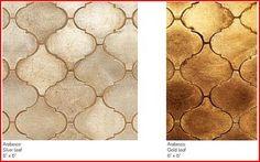 Metallic lantern tile