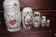 Nesting Dolls folk art Art doll Russian doll people