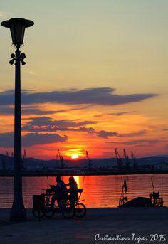 Romantic sunset in the sea III - Volos, Magnisia, Greece Copyright: Costantino Topas