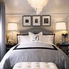 love this white monogram pillow cover
