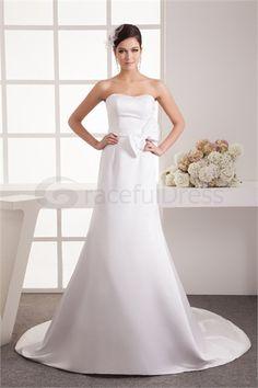 Robe de mariée simple A-ligne Col en cœur doux en Taffetas http://fr.GracefulDress.com/Robe-de-mariée-simple-A-ligne-Col-en-cœur-doux-en-Taffetas-p22069.html