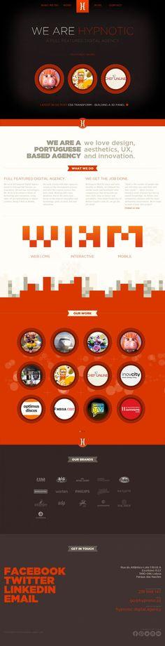 Company Bio - info Hypnotic Digital Agency - Webdesign inspiration www.niceoneilike.com