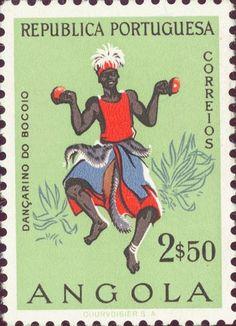 Angola -  Male dancer from Bocoio