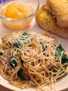 Spinach, Garlic, and Lemon Spaghetti