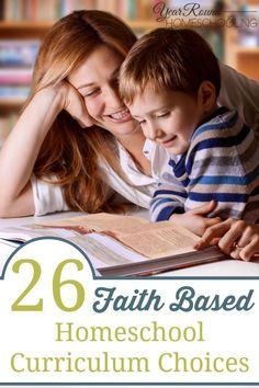 Faith Based Homeschool Curriculum Choices #faith #homeschool #FaithHomeschool #FaithHomeschooling #ChristianHomeschool #ChristianHomeschooling