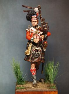 Miniatures, Paint and History---- Piper Kenneth Mckay of the 79th Camerons at Waterloo.  He was awarded a set of silver pipes by the King for his heroic actions.