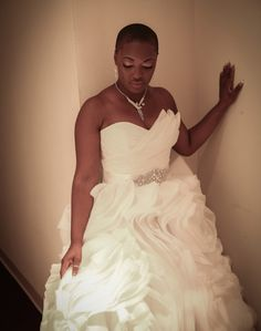 Precious // Natural Hair Bride Click the image for details on Precious' wedding hair. Wedding Bride, Dream Wedding, Bridal Gowns, Wedding Gowns, African American Weddings, Black Bride, Wedding Trends, Wedding Ideas, Bridal Style