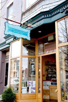 Hudson Wine Merchants, Hudson, New Yoirk . take a day trip there - it's wonderful! Mid Atlantic States, Wine Merchant, Upstate New York, Iron Gates, New York Travel, Fine Wine, Hudson Valley, Antique Shops, Beautiful Buildings