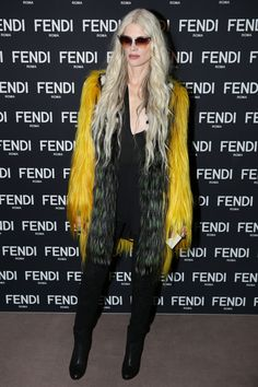 Kristen McMenamy in Fendi