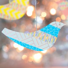 Recycled Plastic and Washi Tape Ornaments