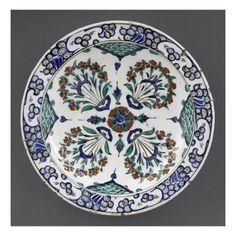 Plat aux 4 bouquets - Musée national de la Renaissance (Ecouen)