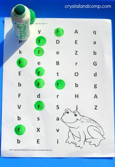 do a dot letter f