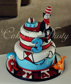 Dr Seuss cake by Cakes by Dusty