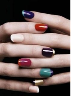 <3 this multicolored #mani ! #manicure #nailart