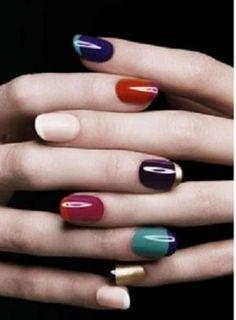 <3 this multicolored #mani ! #manicure #nailart