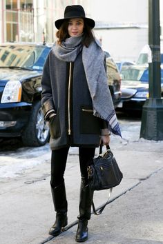 layer up with a chic jacket and a warm big scarf #fall #fallfashion #outfitidea