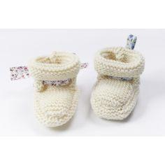Chaussons pour petit Bout de Chou, ultra-rapides à tricoter, accessibles à tous les débutants en tricot :-)