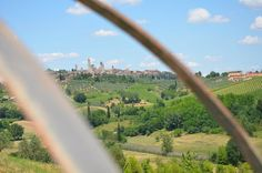 view from Poggiacolle to San Gimignano