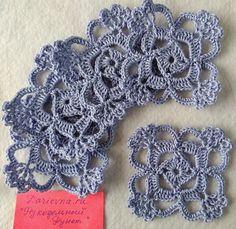 Wonderful Crochet a Solid Granny Square Ideas That You Would Love Crochet Squares, Crochet Granny, Crochet Motif, Irish Crochet, Crochet Doilies, Crochet Flowers, Crochet Lace, Crochet Stitches Patterns, Crochet Designs