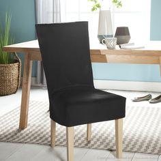 Housse de chaise margaux canap s chaises fauteuils - Housse de chaise hauteur dossier 60 cm ...