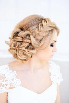 Hochzeitsmode Haar-Styles Flechtfrisuren-geflochtene Haarreifen-breit