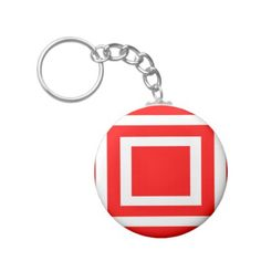 Abstract geometric pattern - red and white. keychain - christmas keychains family merry xmas personalize gift idea