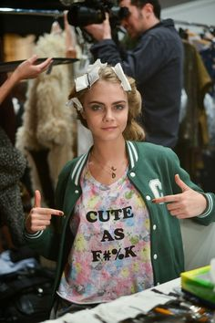 Cara Delevingne Loves Her Some Quirky Statement Tees! What Do You Think of Her Off-Duty-Model Style?