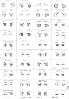 Drawing Tutorial Day 31 - Manga eyes expression by - Anime Drawings Sketches, Kawaii Drawings, Anime Sketch, Eye Drawings, Hipster Drawings, Chibi Sketch, Sketch Art, Pencil Drawings, Regard Animal