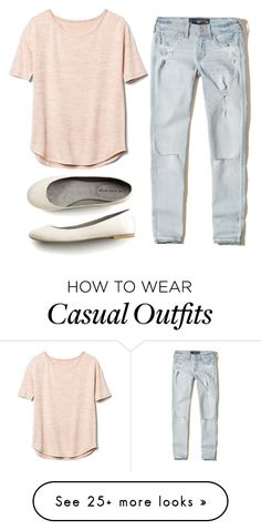"""""""Cute Casual Look"""" by forgotten-unicorn on Polyvore featuring Hollister Co., Gap and superbored"""